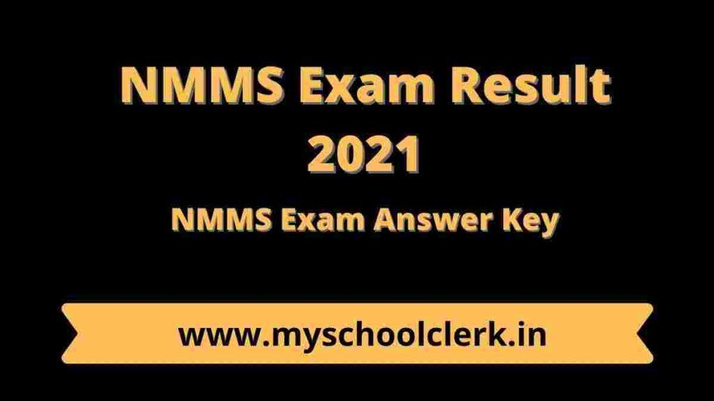 NMMS Exam Result 2021