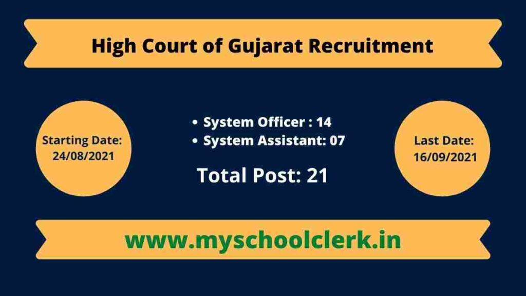High Court of Gujarat Recruitment for System Officer and System Assistant 2021